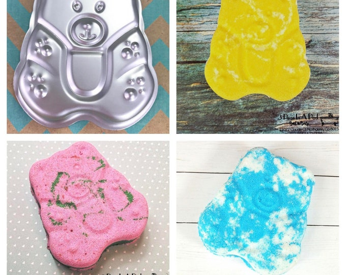 "GUMMY BEAR Bath Bomb & Baking Mold, 3 1/2"", Makes About 5oz Bomb, Kid Mold, Two Wild Hares"
