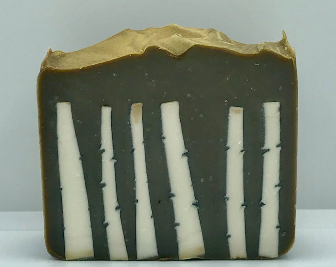 BIRCH Handmade Soap, Vanilla Birch Sandalwood, Cold Process, XL Bar 5.25oz, Two Wild Hares