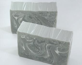 MAHOGANY, TEAK & ORANGE Handmade Soap, Rustic Men's Soap, 4oz, Two Wild Hares