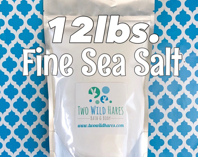 12LB. FINE SEA Salt, Food Grade, Fine Granulated, Free Usa Ship, Two Wild Hares