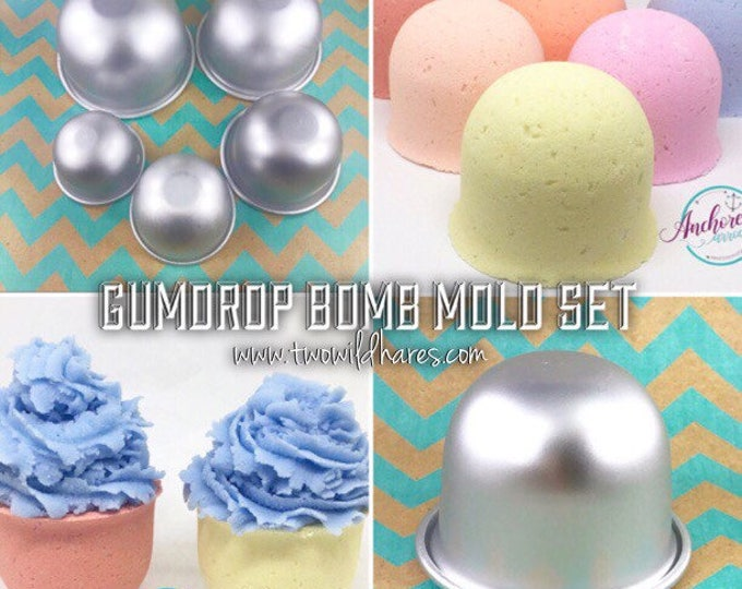 GUMDROP Mold Set, 5 Piece, Get ALL the Sizes! Metal, Bath Bomb & Baking Mold, Two Wild Hares