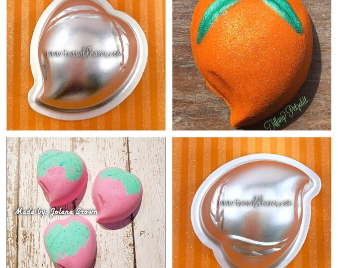 "ASIAN PEACH Bath Bomb & Baking Mold, Metal, 2 3/4"", Two Wild Hares"