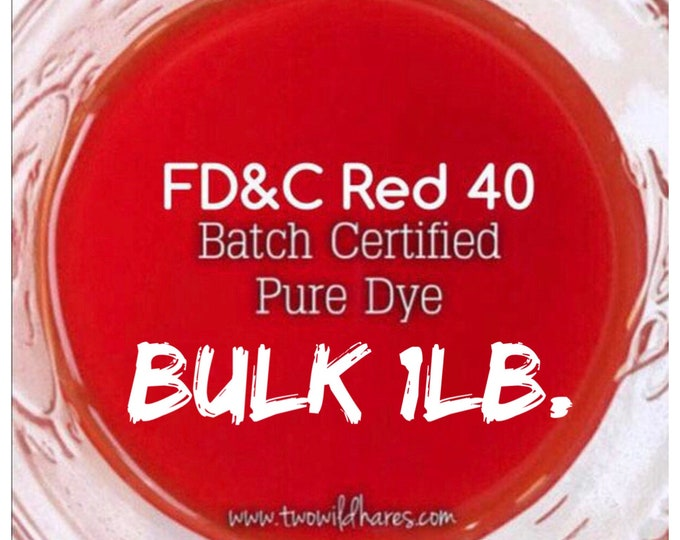 1lb Bulk BLOOD ORANGE Bath Bomb DYE, Fd&c Red 40, 89-94%, Batch Certified, Powdered Water Soluble Colorant, Two Wild Hares