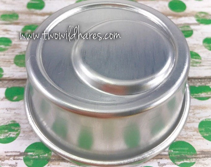 "CIRCLE IN CIRCLE Bath Bomb & Baking Mold, Metal, 3"" x 1 3/8"", Two Wild Hares"