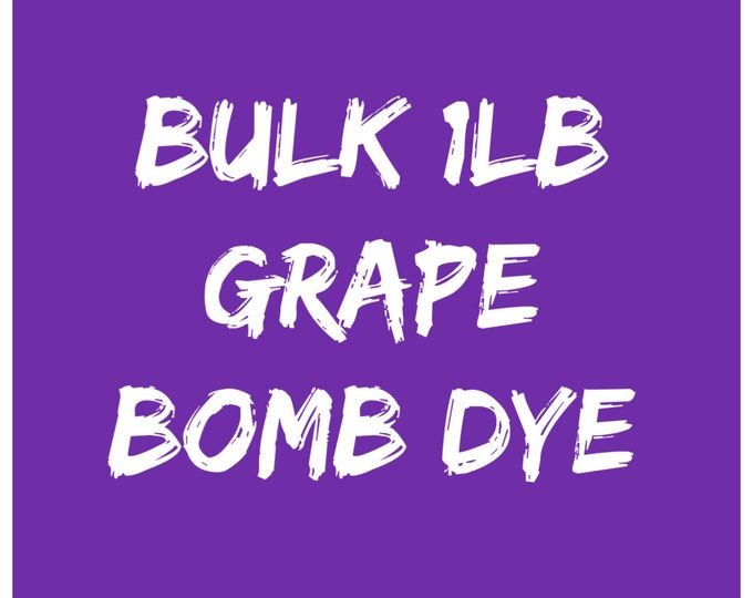 1lb Bulk GRAPE Bath Bomb Dye, 84-91% Batch Certified Water Soluble Powdered Cosmetic Colorant, Container Packaging, Two Wild Hares