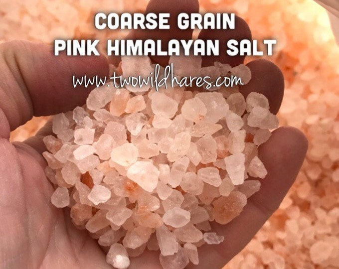 6lbs PINK HIMALAYAN Sea Salt, Coarse Grain (4-7mm), Remineralizing Natural Salt, Free Usa Ship, DIY, Two Wild Hares