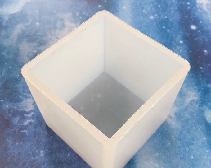 "2.5"" CUBE Silicone Mold, Free US Ship, Soap, Lotion Bars, Jelly Soap, Wax, Resin, Heat Safe Silicone, Two Wild Hares"