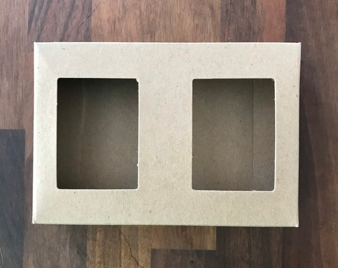100- Double Window Kraft Soap Boxes, Designed for 2 Bars of Soap, 100% Recyclable, Eco Friendly Soap Packaging, Free US Ship, Two Wild Hares