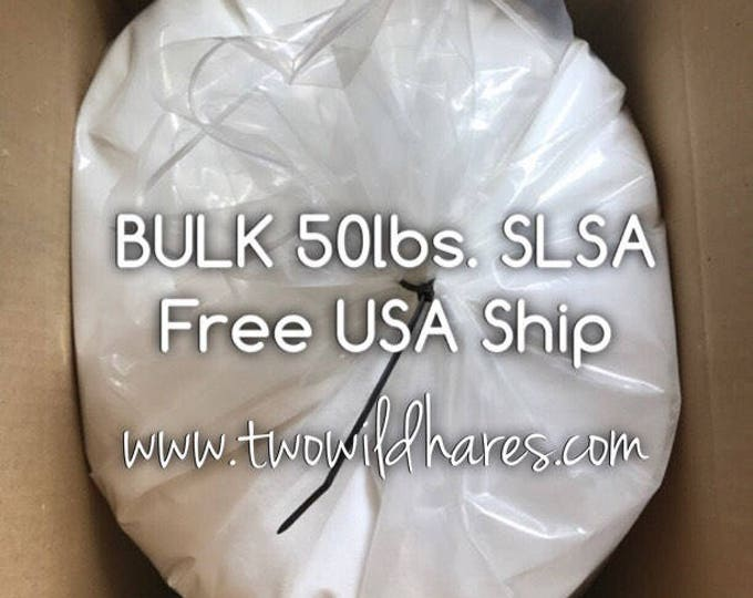 50lbs SLSA, FREE USA Ship, Eco Certified Surfactant, Lathanol, Sodium Lauryl Sulfoacetate, Lal Coarse Powder, Bubbles!