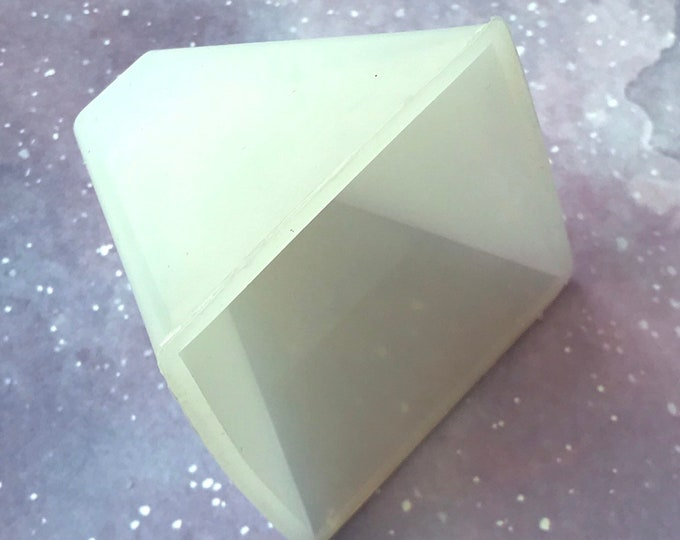 "2.5"" PYRAMID Silicone Mold, Soap, FREE Us Ship, Lotion Bars, Jelly Soap, Wax, Resin, Heat Safe Silicone, Two Wild Hares"