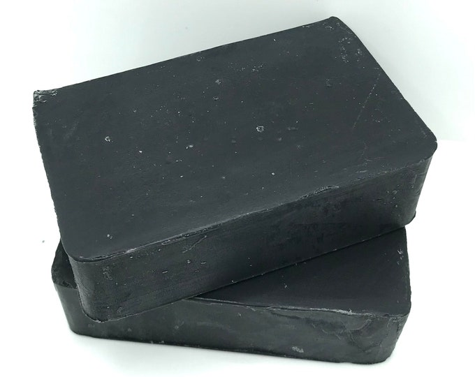 BAMBOO CHARCOAL Handmade Soap, Unscented, Deodorizing, Cold Process, 4.25oz, Two Wild Hares