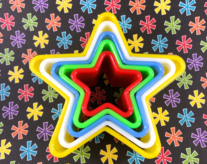 STARS Nested Cookie Cutter (5), Plastic, 3.75""