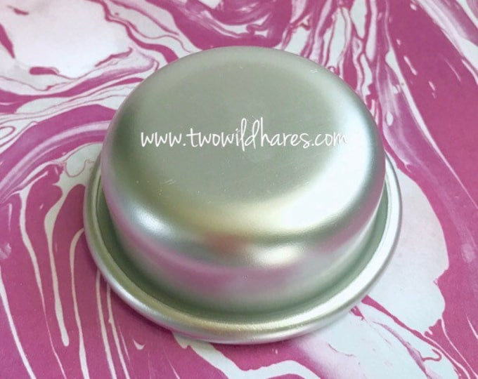 "SM. TABLET, Shower Steamer, Chill Pill Bath Bomb & Baking Mold, 2 1/2""x 1"" Metal, Two Wild Hares"