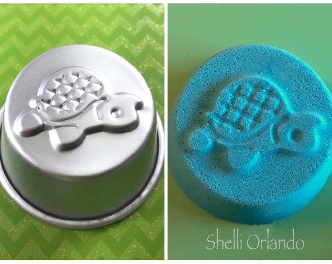 "SEA TURTLE Bath Bomb Mold, 2.75"" Metal, 3.5-3.75 oz Kid's Bath Bomb, Two Wild Hares"