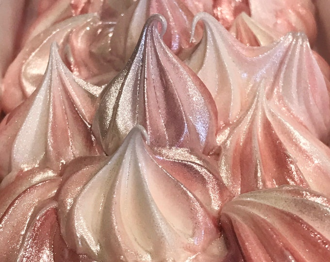 PEPPERMINT CANDY Meringue Handmade Soap, Cold Process, XL Bar 5.25oz, Two Wild Hares