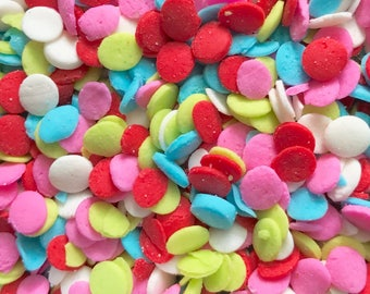 "Bulk BIRTHDAY PARTY Sprinkles, 1/8"", Red, Pink, Blue, Green, White, 19.5oz, Two Wild Hares"