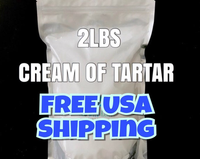 2lb Cream of Tartar, Bubble Bar Hardener, Potassium Bitartrate, DIY Bath Bomb Bubble Bar, Two Wild Hares