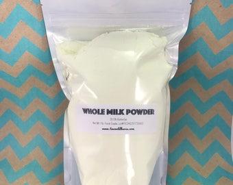 1lb. WHOLE MILK Powder, 28.5% Fat, Milk Bath, Milk Bomb, Adds Foam & Silky Water