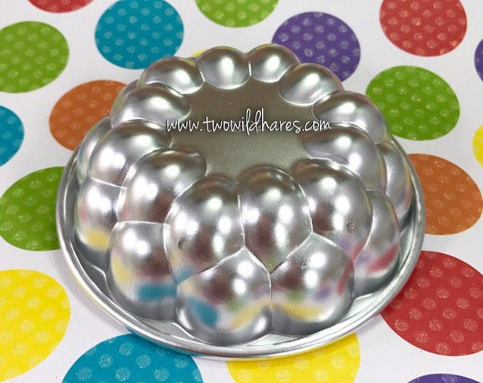 "TROUBLE WITH BUBBLES Bath Bomb Mold, Metal, 3.75""x1.25"", Two Wild Hares"