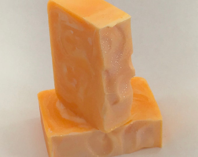 JUST PEACH-Y Handmade Soap, 4oz, Two Wild Hares