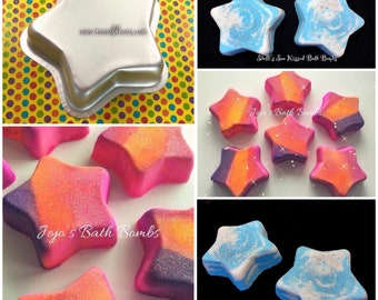 """TWINKLE TWINKLE Bath Bomb Mold, Metal, 4.25"""" at the widest, 1.25"""" deep, Two Wild Hares"""