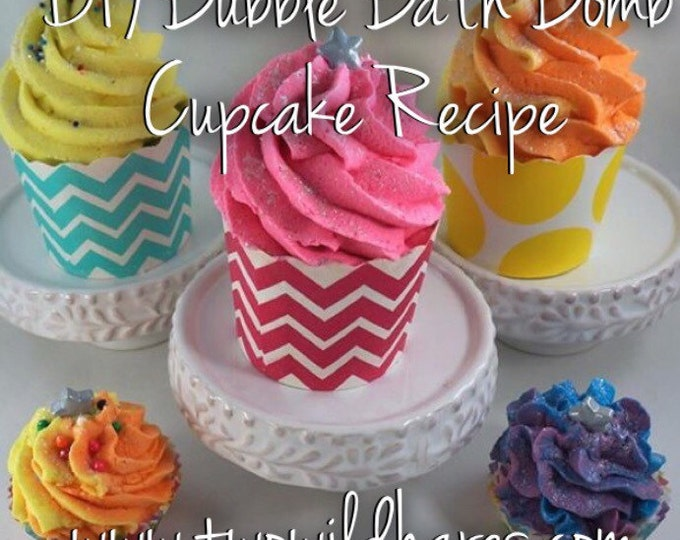 DIY Bubble Bath Bomb Cupcake Recipe & Tutorial Guide (2 recipes in 1), Step By Step, Two Wild Hares