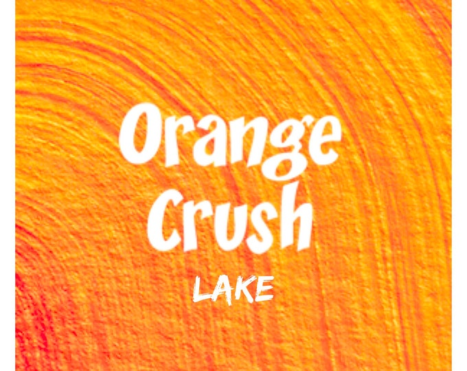 4oz ORANGE CRUSH Lake Fd&c Yellow 6, 41% High Dye Load, Batch Certified, Powdered Cosmetic Colorant, Two Wild Hares