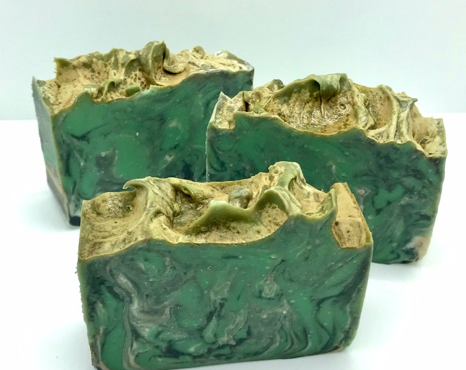 GREEN FAIRY Handmade Soap, Spices Amber & Wood, Cold Process, 4.25oz, Two Wild Hares