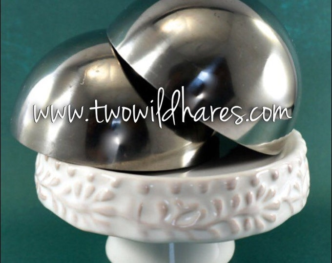3″ BATH BOMB Mold, 76mm, Heavy Duty, Stainless Steel, Won't Dent Like Others, Two Wild Hares