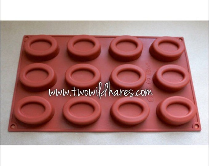 OVAL Hotel, 1oz Bar,  12 cavities, Sample Soaps, Lotion Bars, Jelly Soap Mold, Heat Safe Silicone, DIY, Free US ShipTwo Wild Hares