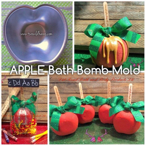 3.18 x 1.5 Perfect for Teacher Gifts Apple Bath Bomb Mold