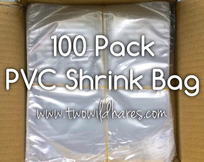 100-PVC Shrink Wrap Bags, High Clarity, Low Heat Required, Two Wild Hares