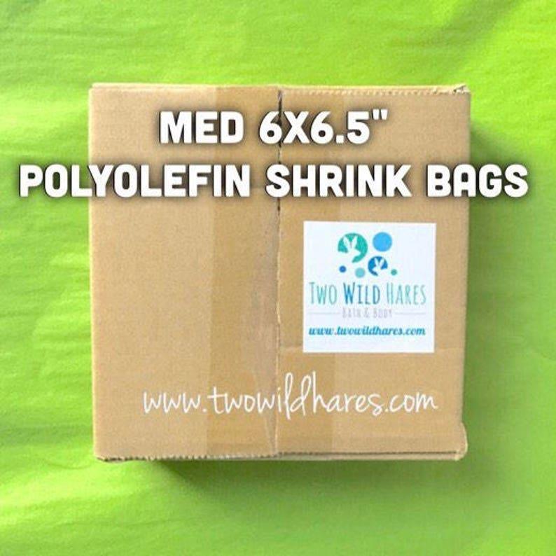 500-Med 6x6.5 POLYOLEFIN Shrink Bags Free US Ship image 0