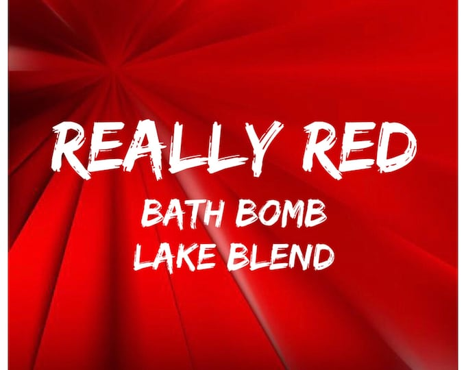 4oz REALLY RED Bath Bomb Lake Blend, High Dye %, Cosmetic Colorant, Batch Certified, Container Packaging, Two Wild Hares