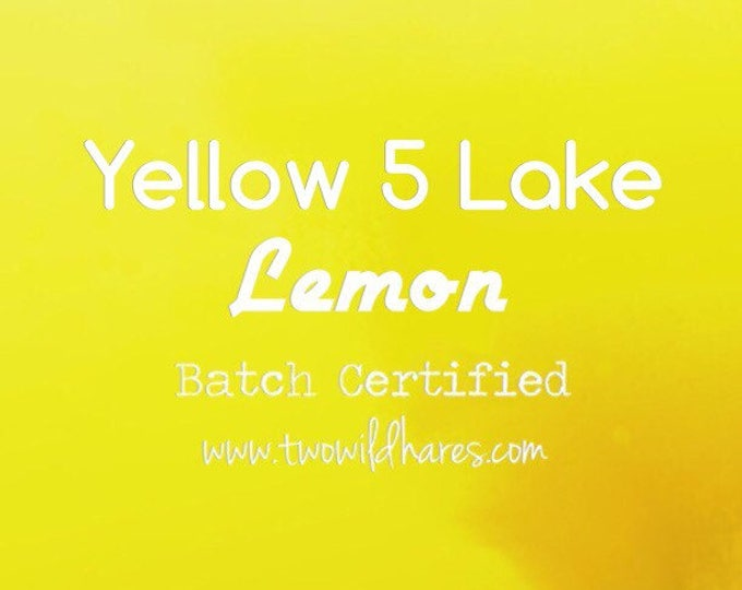 4oz LEMON LAKE, Bath Bombs, Cosmetics, 42% High Dye, Batch Certified, FD&C Yellow 5 Lake Powdered Colorant, Two Wild Hares