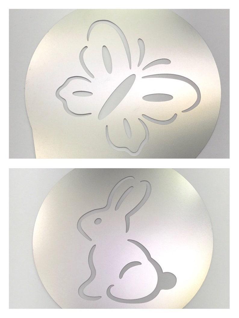 cd5ad1f75ad 2pc. Airbrush Stencil Bunny   Butterfly Bath Bomb Baking