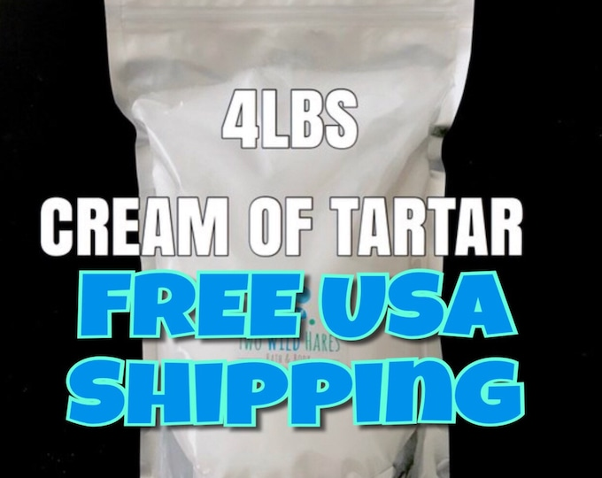 4lb Cream of Tartar, Bubble Bar Hardener, Potassium Bitartrate, Ingredient for Bath Bomb, Bubble Bar DIY, Two Wild Hares