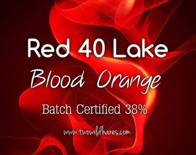 BLOOD ORANGE LAKE, 38% High Dye Load Fd&c Red 40 Lake, Batch Certified, Powdered Cosmetic Colorant