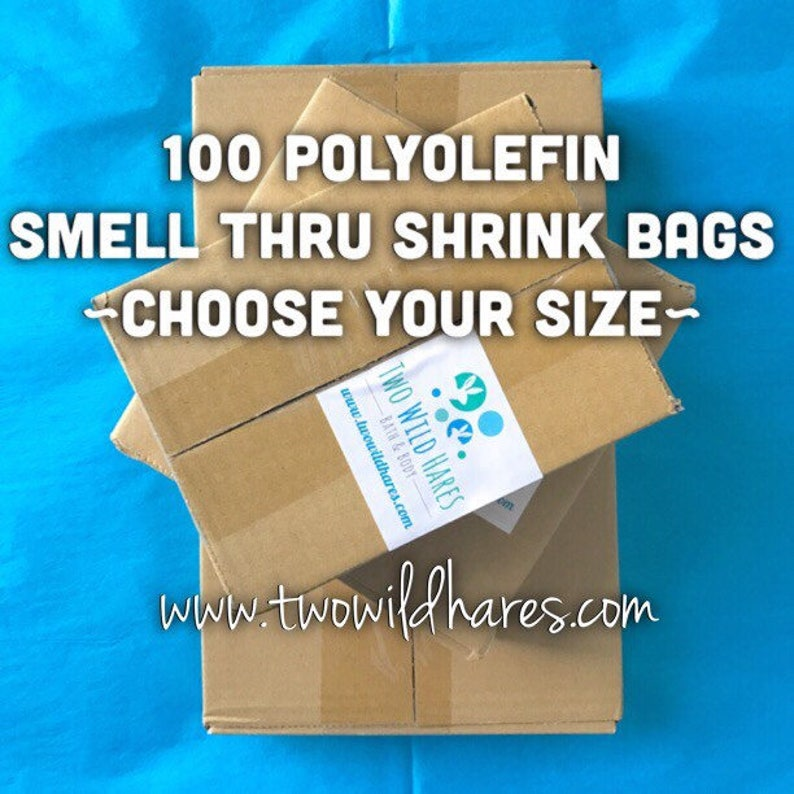 100-POLYOLEFIN Shrink Bags Smell Through Plastic BEST Wrap image 0