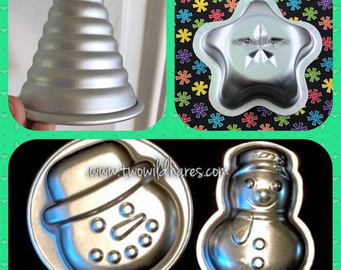 CHRISTMAS BOMB & BAKING Molds, Christmas Tree, Snowman, Frosty Face, Lucky Star, Special Price on Set!