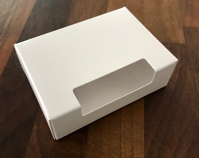 """25-Fancy Top Window Soap Box, White, 100% Recyclable,  2 3/4"""" x 3 13/16"""" x 1 3/16"""", Eco Friendly Soap Packaging, Two Wild Hares"""