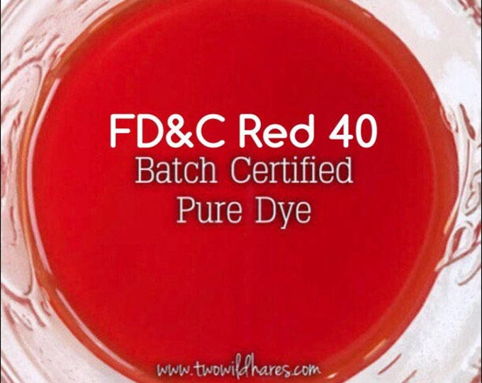 1oz. BLOOD ORANGE Bath Bomb DYE, Fd&c Red 40, 89-94%, Batch Certified, Powdered Water Soluble Colorant, Container Packaging, Two Wild Hares