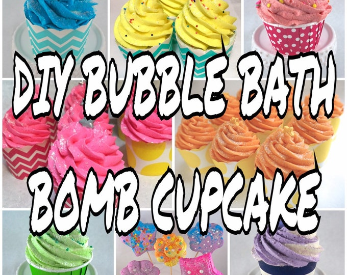"""DIY Bubble Bomb Cupcake, Bubble Bath """"Frosting"""" & Bath Bomb """"Cake"""", Step by Step Tutorial Guide, Make Your Own Bath Stuff, Two Wild Hares"""