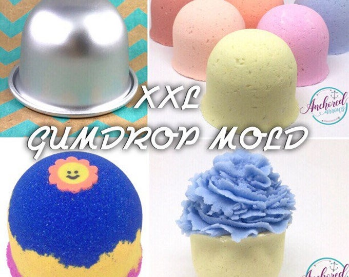 "XXL GUMDROP Bath Bomb & Baking Mold, Metal, 3 1/2"" across, 2 9/16"" deep, Two Wild Hares"