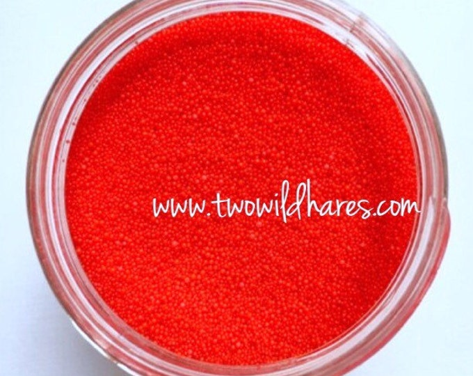 JOJOBA BEADS CHERRY Red, 20/40 Exfoliant Safe Alternative to Microbeads for Bath Products, Two Wild Hares
