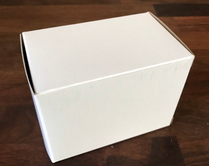"""25- Chunky WHITE Boxes, 100% Recyclable, 4x3x2.5"""" Eco Friendly Soap Packaging, Two Wild Hares"""