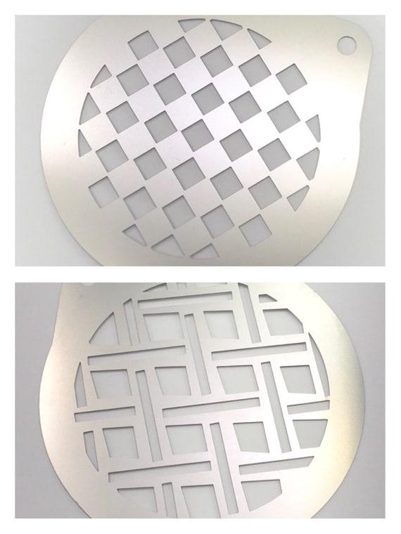 2b86abaf7ce 2pc. Airbrush Stencil 2 Checker Patterns Stencil Bath Bombs