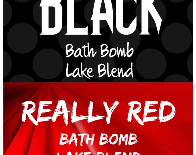 4oz BLACK & 4oz RED Bath Bomb Color Pack, Add Dry to Bomb Mix, Easy To Use, High Dye Lake Blends, Free USA Ship, Two Wild Hares