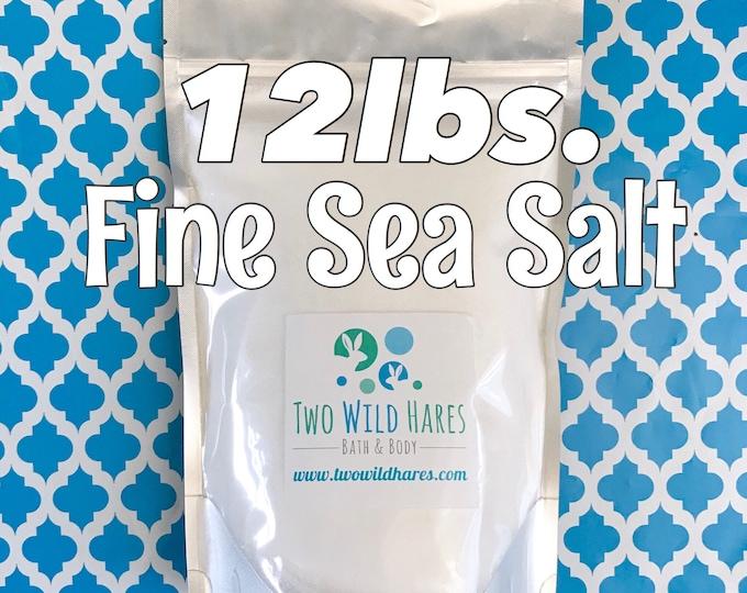 12LB. FINE SEA Salt, Food Grade, Fine Granulated, Free Usa Ship, Two Wild Hares