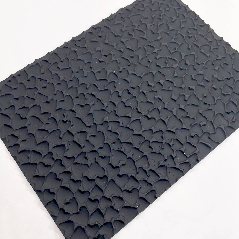 Hearts Impression Texture Mat Mold 9 5x7 Silicone Soap